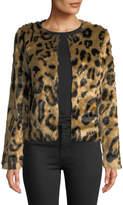 Romeo & Juliet Couture Faux-Fur Crewneck Coat