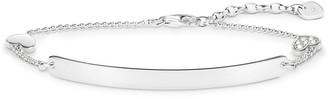 Thomas Sabo Women Silver Hand Chain Bracelet - D_LBA0002-725-14-L19v