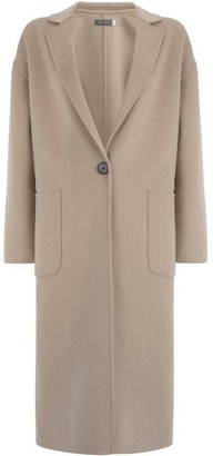 Mint Velvet Camel Split Seam Coat