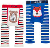 Joules Baby Lively Footless Leggings, Pack of 2, Blue/White