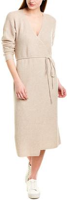 Vince Ribbed Wool & Cashmere-Blend Wrap Dress