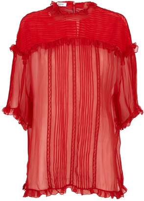 Valentino Silk Ruffled Blouse