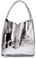 Proenza Schouler Medium Metallic Leather Tote Bag, Silver