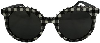 Italia Independent Black Plastic Sunglasses