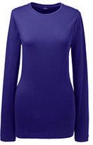 Classic Women's Plus Size Shaped Layering Crewneck T-shirt-Purple Sapphire