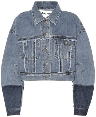 Acne Studios Kremi cropped denim jacket