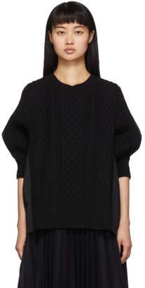 Sacai Black Knit Wool Sweater