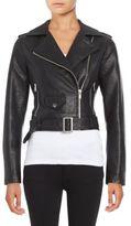 Design Lab Faux Leather Moto Jacket