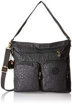 Kipling Tasmo, Women's Shoulder Bag, Schwarz (Black Scarlet Emb), 31x29x14 cm (B x H T)