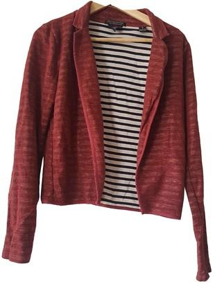 Maison Scotch Burgundy Cotton Jacket for Women