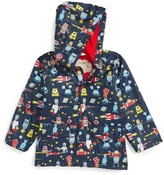 Hatley Toddler Boy's Space Aliens Hooded Raincoat
