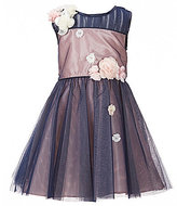 Rare Editions Little Girls 2T-6X Color Block Tulle A-Line Dress