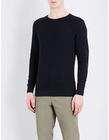 Closed Textured Knitted Cotton Jumper