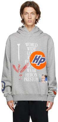 Heron Preston Grey Collage Hoodie
