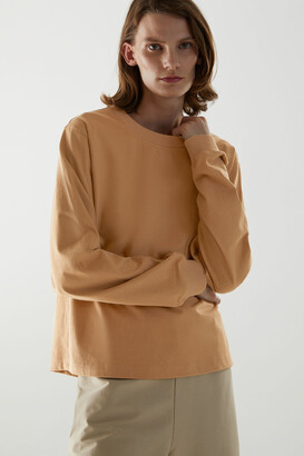 Cos Cotton Long-Sleeve Patch Pocket T-Shirt