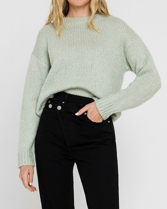 Express English Factory Long Sleeve Crew Neck Sweater