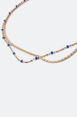 francesca's Jaylin Beaded Layered Choker - Blue