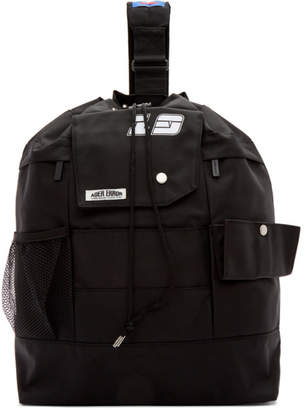 ADER error SSENSE Exclusive Black ASCC Single Strap Backpack