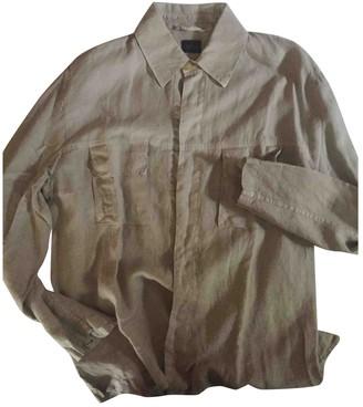 Non Signã© / Unsigned Beige Linen Shirts