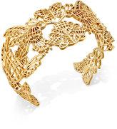 Kate Spade Gold-Tone Garden-Motif Cuff Bracelet