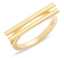 Argentovivo Double Bar Ring