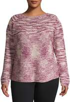 Jones New York Plus Long-Sleeve Sweater