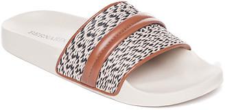 Bernardo Raffia Flat Pool Slide Sandals