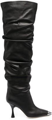 Sergio Rossi Twenty 90mm mid-calf leather boots