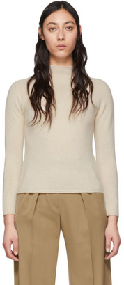 Max Mara Off-White Cashmere Kapok Sweater