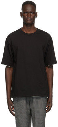 Ambush Reversible Black and Green Cotton T-Shirt