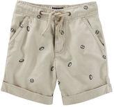 Osh Kosh Football Print Pull-On Shorts