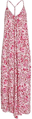 Poupette St Barth Felicia Sleeveless Floral Maxi Dress