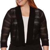 Ronni Nicole RN studio by 3/4-Sleeve Crochet Shrug - Plus