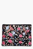 Boohoo Lexi Embroidered Bird Floral Clutch Bag