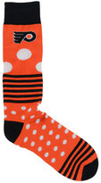 For Bare Feet Philadelphia Flyers Dots and Stripes 538 Socks