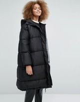 Monki Exclusive Padded Hooded Jacket