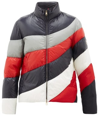 Moncler Argentiere Wave-stripe Quilted-down Jacket - Navy Multi