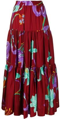 La DoubleJ x Mantero floral print skirt