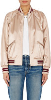 Valentino Women's Studded Satin Bomber Jacket