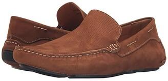 Massimo Matteo Perf Nubuck Driver (Camel) Men's Slip on Shoes