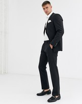 Tommy Hilfiger will extra slim suit trouser-Black