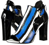 Just Cavalli Striped Printed Leather Patent Leather Leather Sole