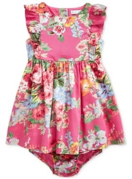 Polo Ralph Lauren Baby Girls Ruffled Floral Cotton Dress & Bloomer
