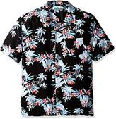 Cubavera Men's Short-Sleeve Tropical Print Pocket Camp Woven Shirt