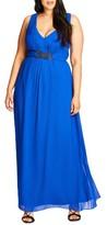 City Chic Plus Size Women's 'Elegant Sparkle' Embellished Maxi Dress