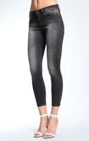 Mavi Jeans Alexa Ankle Skinny In Black Used Gold Sporty