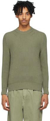 Ami Alexandre Mattiussi Green Hammer Sleeve Sweater