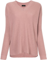 Roberto Collina ribbed v-neck jumper