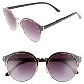 BP Women's 56Mm Round Sunglasses - Black/ Gold