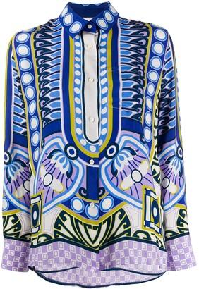 La DoubleJ Ittica geometric print shirt